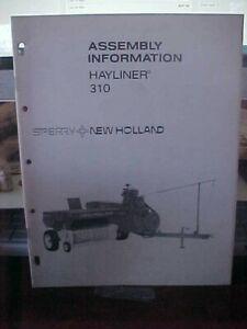New Holland Assembly Information Hayliner 310   (1i)