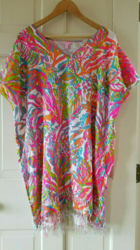 Lilly Pulitzer Avette Caftan Cover Up Tunic Scuba