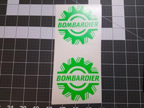 "BOMBARDIER 4/"" Vinyl Decals Ski-Doo Snowmobile Sled Trailer"