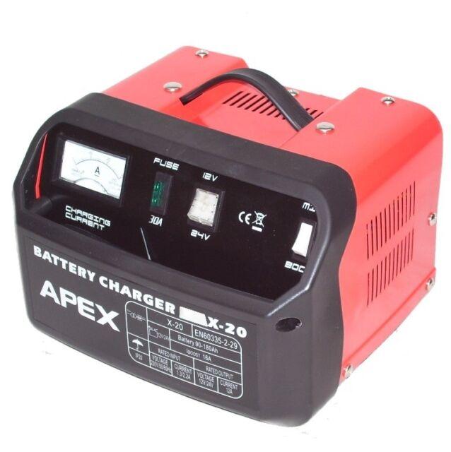 Car Battery Charger 20 Automatic Portable 12V 24V Van Truck Vehicle Autocar