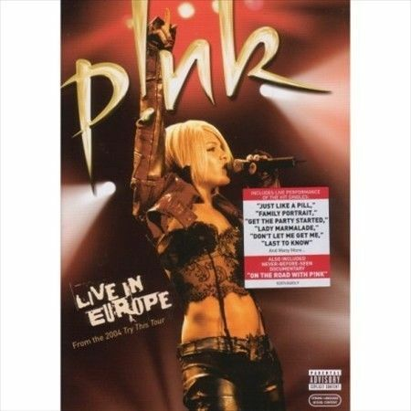 1 of 1 - Live in Europe [PA] by P!nk (Alecia Beth Moore) (CD, Nov-2006, Zomba (USA))