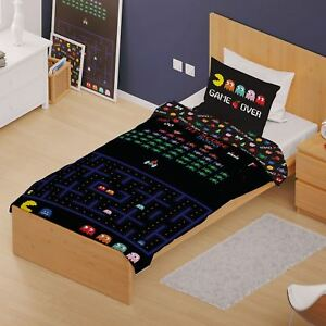 Retro-Games-Arcade-Set-Housse-de-Couette-Simple-Space-Invaders-Pac-Man