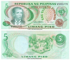 Filippine-5-PISO-1978-P-160b-BANCONOTE-UNC