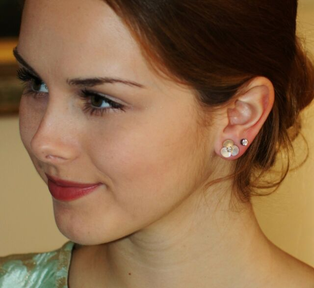 17b4f7fc0 Kate Spade Mother of Pearl Disco Pansy Stud Earrings Retail for sale ...