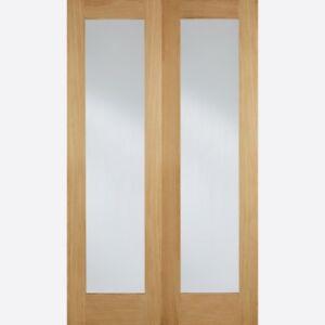 Image is loading LPD-Internal-Pairs-Pattern-Clear-Glass-Doors & LPD Internal Pairs Pattern Clear Glass Doors   eBay