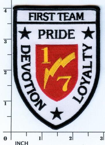 USMC 1st Bn//7th Mar white PATCH 1//7 Merrowed-edge 1st Battalion//7th Marines OIF