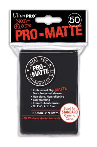 200 Ultra Pro Deck Protector Card Sleeves Pro Matte Black Standard Magic Pokemon