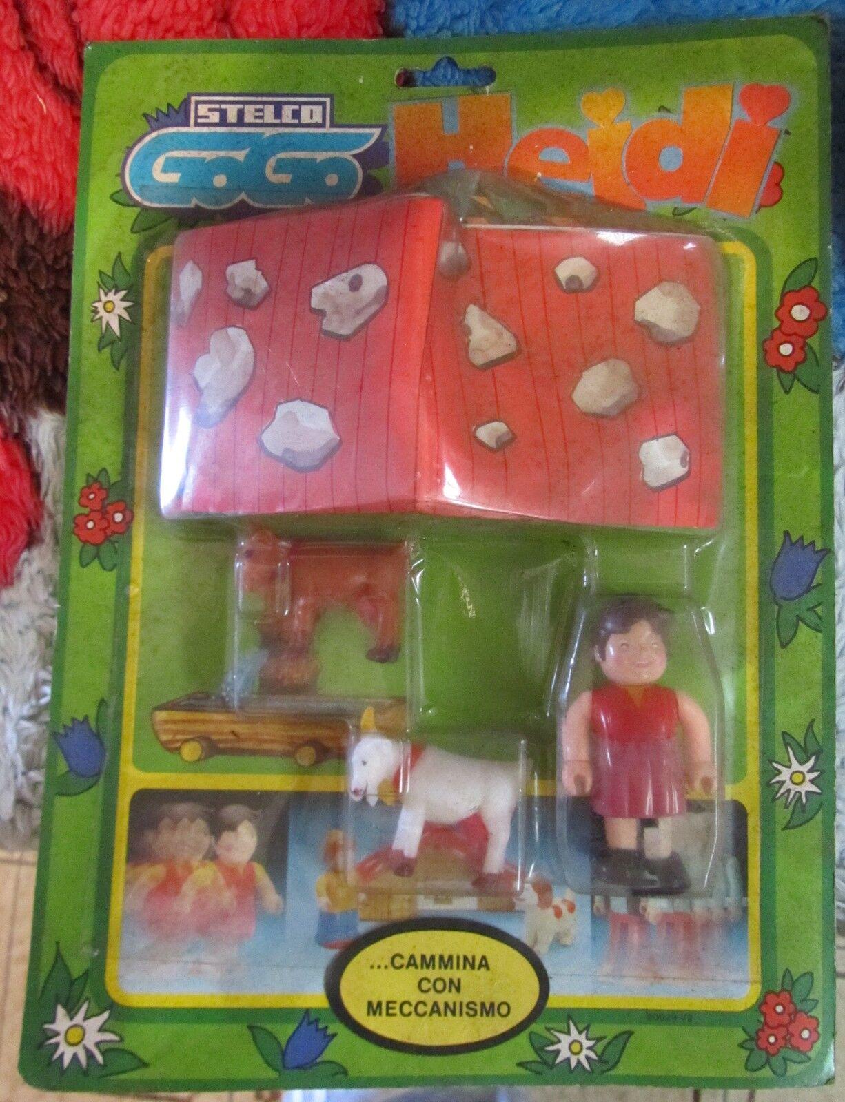 Heidi e Fiocco Di Neve Stelco GO GO action figure anni 80 blister MOC RARISSIMA