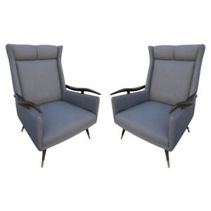 Pair Of 1950s Brazilian Lounge Chairs Armchairs Ebay