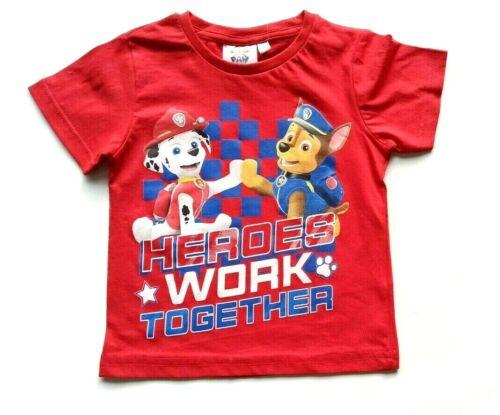 Jungen T-Shirt Paw Patrol Kinder T-Shirt Kurzarm Gr 98-128 NEU