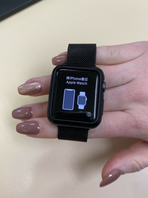 Apple Watch Series 3 38mm Space Gray Aluminium Case With Gray Sport Band Gps Cellular Mr2w2ll A For Sale Online Ebay