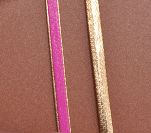 3meters  Man-made Leather two-tone Cord line For Necklace Bracelets  3x1mm