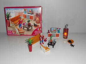 ... PLAYMOBIL 5332 SALON AVEC CHEMINEE Pour Maison Villa