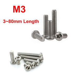 50Pcs M6 Phillips round head with washer screw pan machine chassis bolts