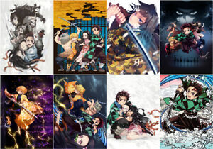 Demon-Slayer-Kimetsu-no-Yaiba-Polypropylene-A3-8-Pieces-Posters-Wall-Poster