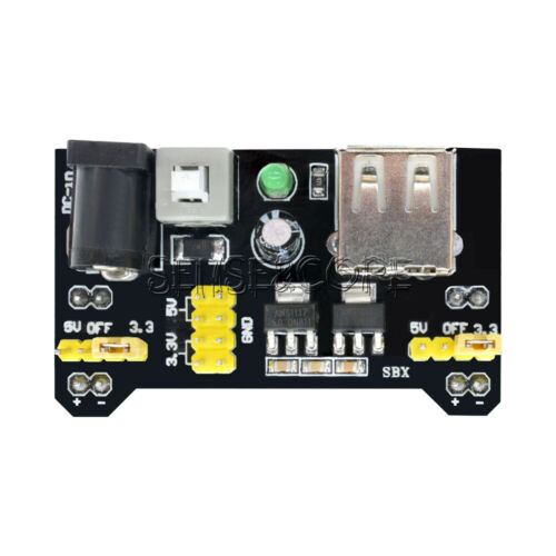2 x MB102 Breadboard Power Supply Module 3.3V 5V For Solderless Breadboard