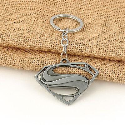 Hot Antique Silver Key Ring Keyfob The Avengers Comics Superman Keyrings Chain