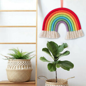 Art-Wall-Hanging-Rainbow-Cloud-Woven-Macrame-Tapestry-Home-Nursery-Room-Decors