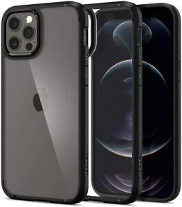 Cover compatibile per iPhone 12 / 12 PRO, Custodia Spigen Ultra Hybrid Nero