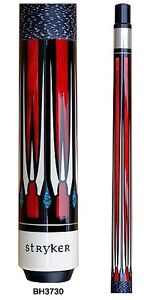 Stryker BH3730 Pool Cue Red w/ Linen Wrap+ Quick-Release Joint+ joint protectors