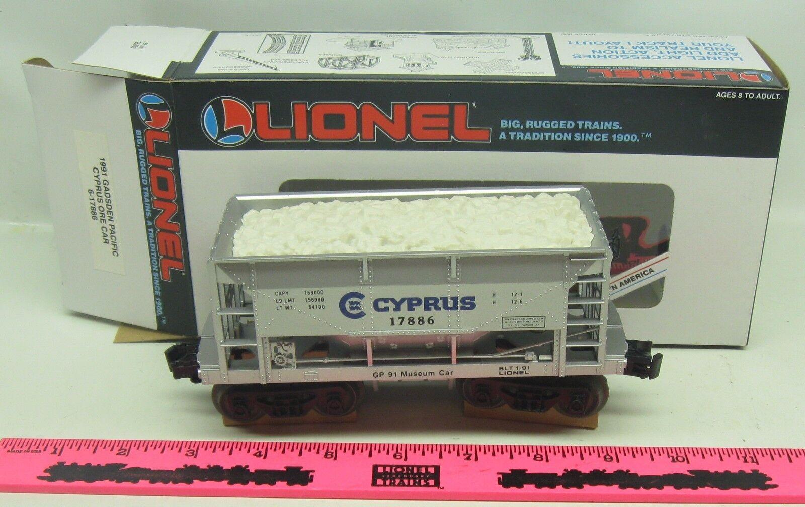 Lionel  6-17886  1991 Gadsden Pacific cyprus ore car
