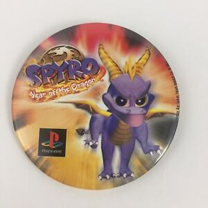 Spyro-Year-Of-The-Dragon-Playstation-Promo-Pin-Button-Vintage-2000