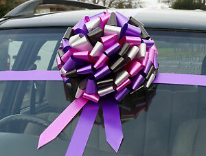 SUPERFAST DISPATCH!! Extra Large Present Gift Giant Car Heart detail Bow