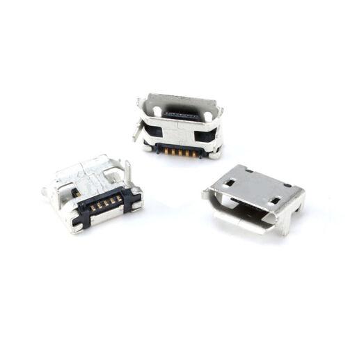 2 Leg 7.2mm Spacing Short Pin Micro USB-B 5P//F Female Socket DIP Roll Mouth Port