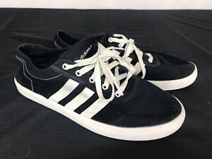 Adidas NEO LABEL Black/White Stripes Canvas Men's Size 9 | eBay