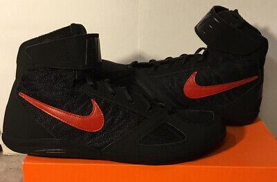 Black Red Wrestling Shoes Size 11.5 | eBay