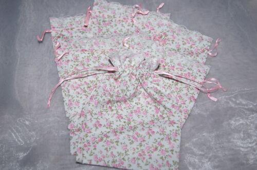 Geschenkbeutel Gastgeschenk millefleur Tischdeko Geburt rosa 6 St.