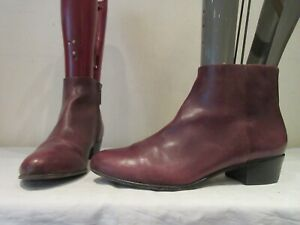MENS-AERIN-BURGUNDY-LEATHER-ZIP-UP-CHELSEA-STYLE-ANKLE-BOOTS-UK-9-US-10-3320