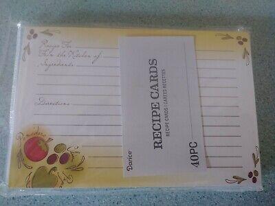 Set of 40 custom Recipe cards for your Longaberger Recipe basket Teal NEW