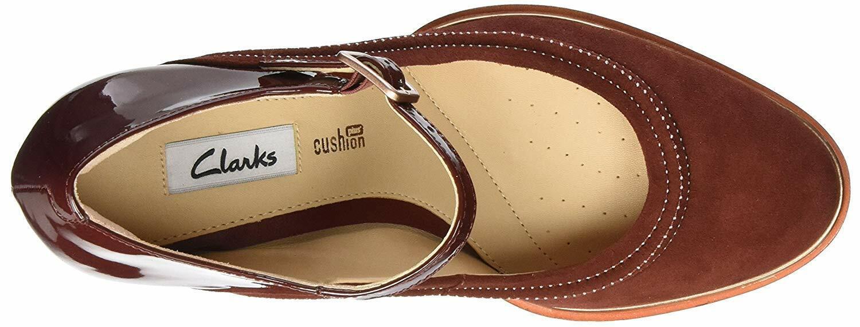 Clarks Ellis Ellis Clarks Mae Rust Suede ladies schuhe heels Größe 3 35.5 D New 2d4e5c