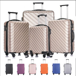 3-4-5-Piece-Luggage-Travel-Set-ABS-Spinner-Hardshell-Trolley-Carry-On-Suitcase