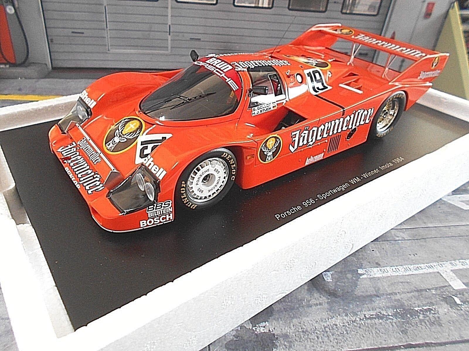 Porsche 956 K Jagermeister Imola  19 Bellof stuc équipe Brun Winner Spark 1 18