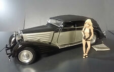 1939 MAYBACH ZEPPLIN SILVER BLACK CLASSIC B11RJ96 FRANKLIN MINT DIECAST 1:24
