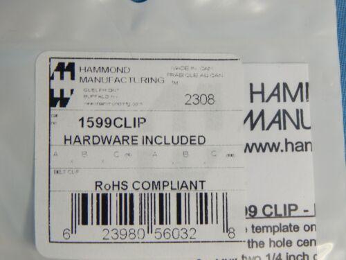 Black 25 NEW Hammond 1599CLIP Belt//Pocket Clip Handheld