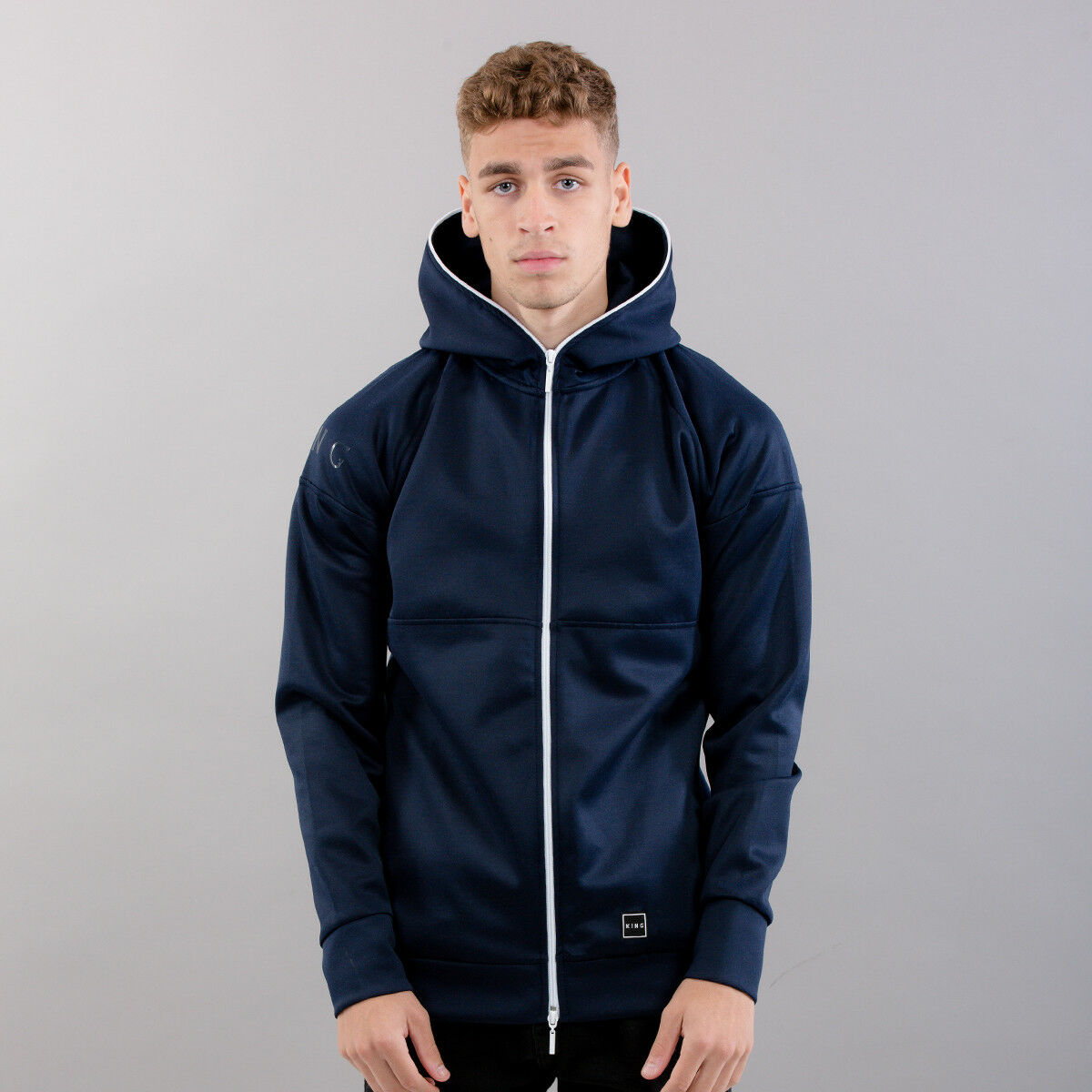 King Apparel Leyton Tech Fleece Hoodie - Ink - 3XL