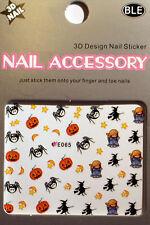 Halloween - Sticker, Nagelsticker,Nailart ,Tattoo,Spinne,Kürbis,Hexe,Geist E065