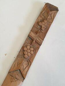 Antique carved wood Terrier Dog  Letter opener