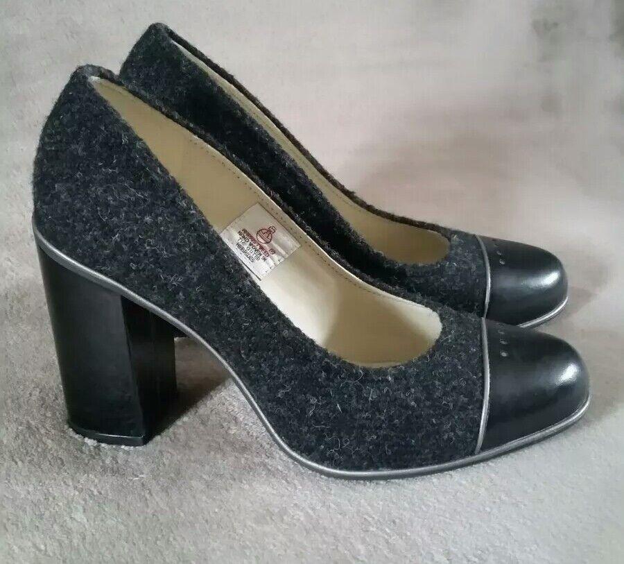 Clarks Harris Tweed softwear Cornish Hielo Cuero Señoras Señoras Señoras Tribunal Zapatos Tacones UK 5  punto de venta barato