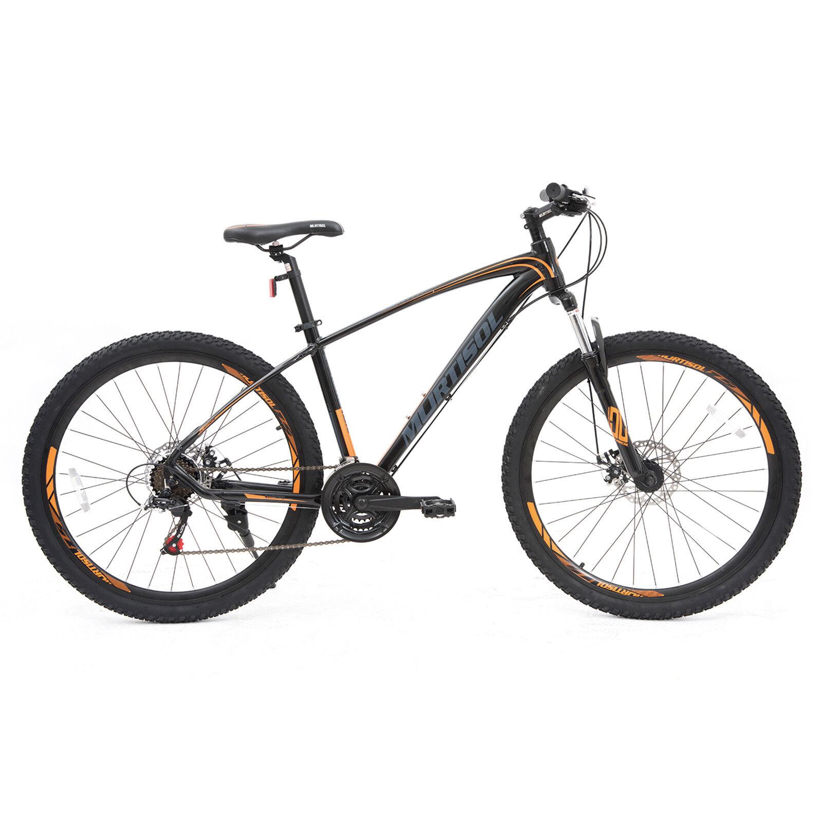 27.5  Aluminum Mountain Bike Front Suspension Bicycle 21 Speed Disc Brake Yellow
