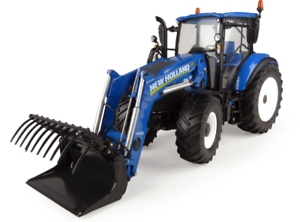 UNIVERSAL HOBBIES NEW HOLLAND T5.120 WITH FRONT LOADER 1 32 SCALE TRACTOR 4958
