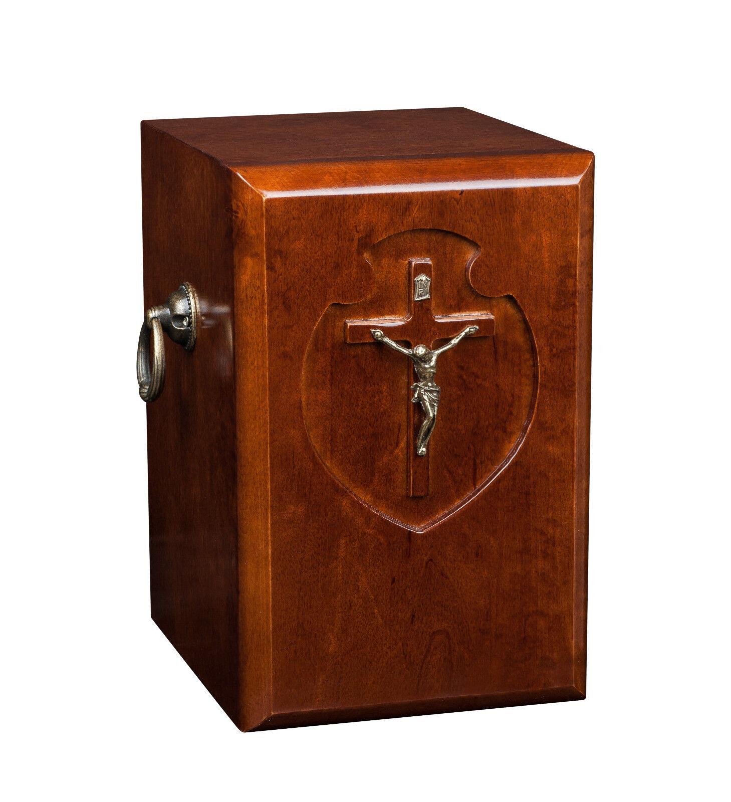Hermoso de madera sólida, Cremación Urna Cenizas Adulto. Ataúd Para Adulto. Cenizas urna de la cremación (WU41) 23e0cf