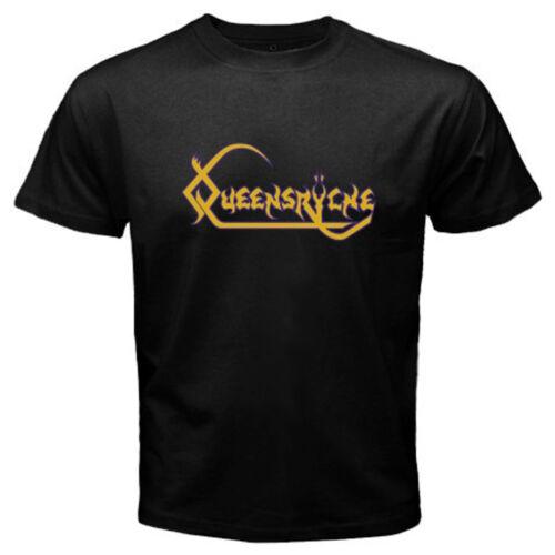 New Queensryche American Heavy Metal Band Logo Men/'s Black T-Shirt Size S-3XL