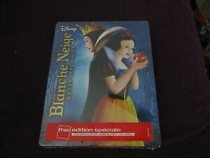 "STEELBOOK 2 BLU-RAY + DVD NEUF ""BLANCHE NEIGE ET LES 7 SEPT NAINS"" Disney"
