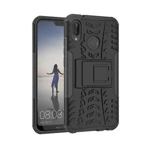 Huawei-P20-Lite-Huelle-Outdoor-Case-Handy-Cover-Panzer-Schutzhuelle-Tasche-Schwarz