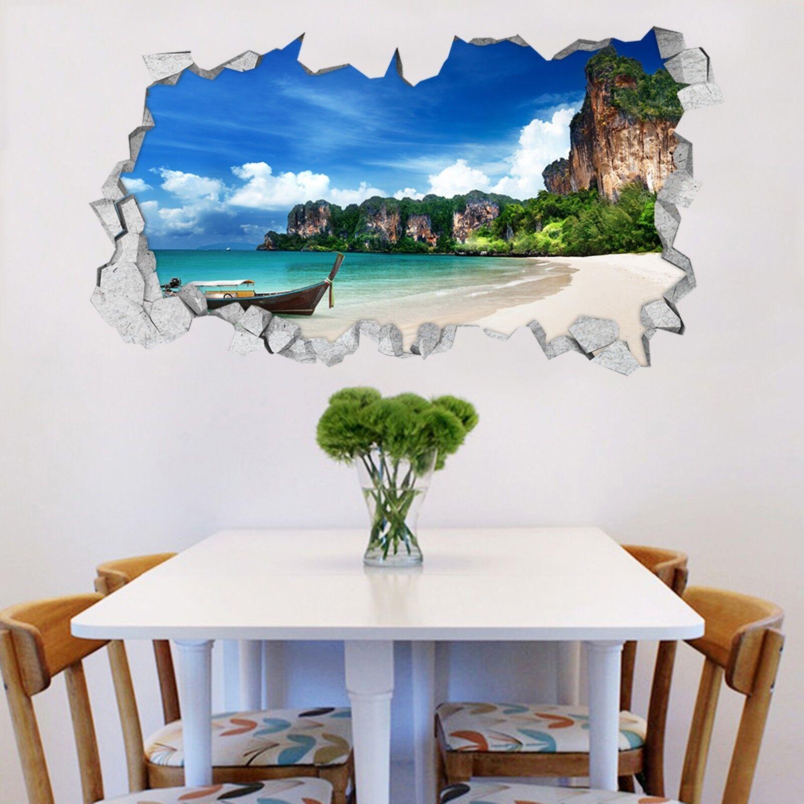 3D StrandStiefel 332 Mauer Murals Mauer Aufklebe Decal Durchbruch AJ WALLPAPER DE