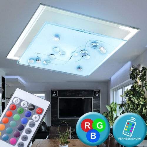 LED RGB Deckenlampe Wandleuchte 3,5W Dimmer Farbwechsler Flur LxBxH 24x24x8,5 cm